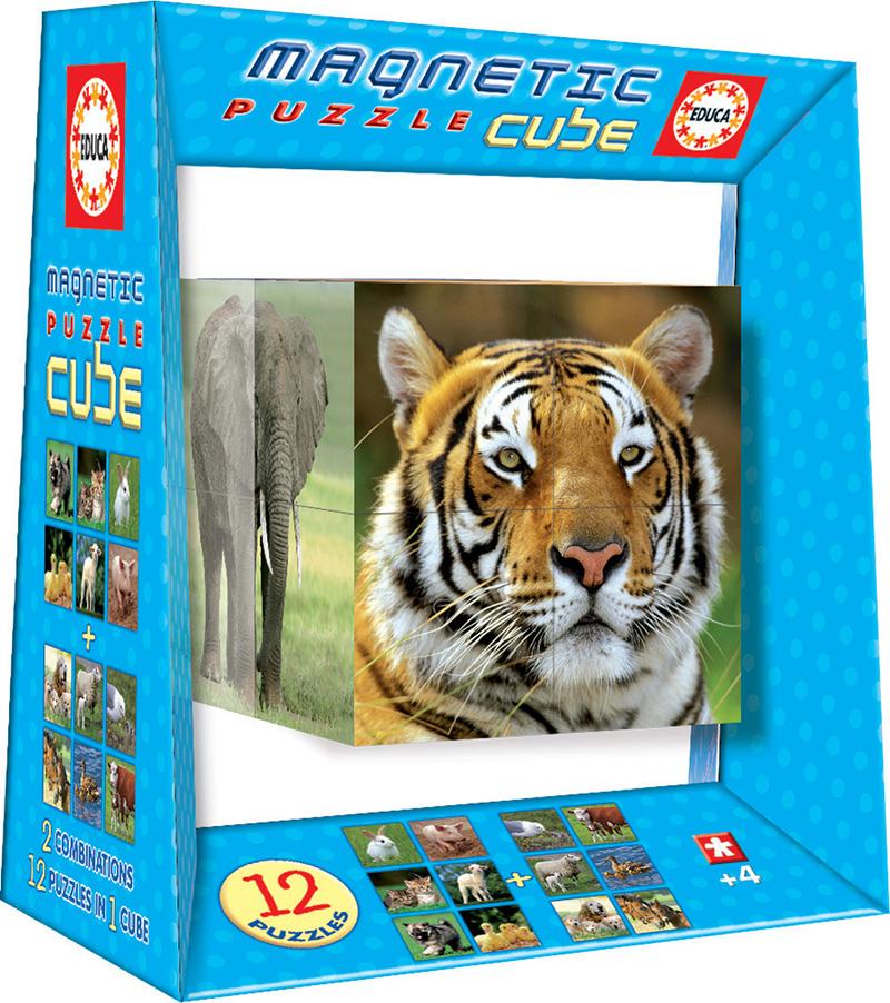 Magnetic Puzzle Cube Vida Salvaje 8c