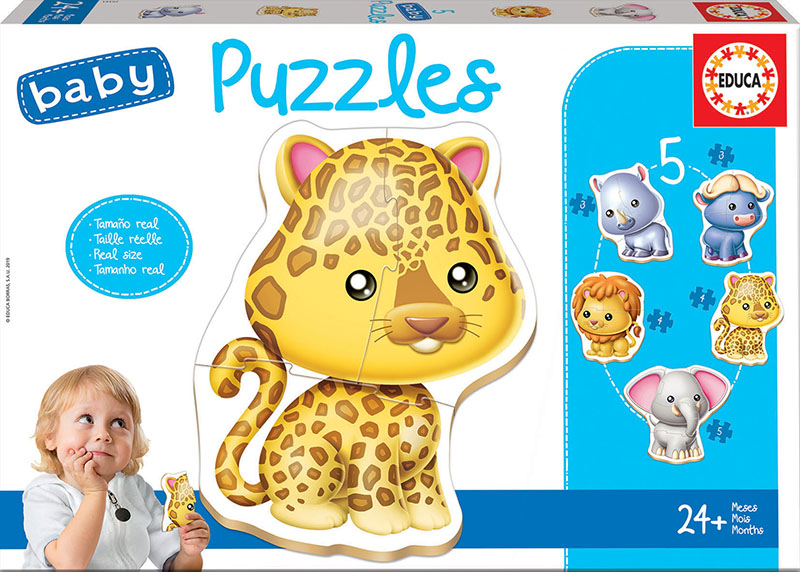 Baby Puzzles Animais selvagens