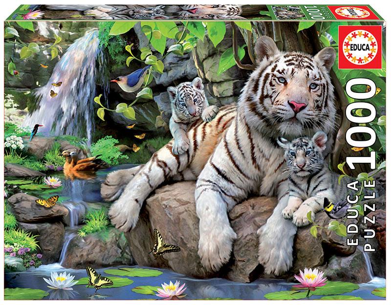 1000 Tigres blancs de bengala