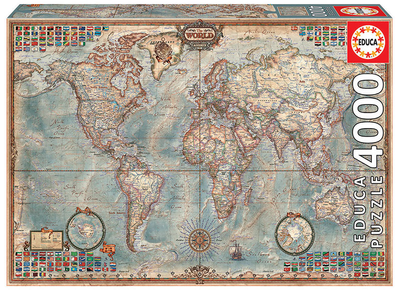 4000 The world, executive map