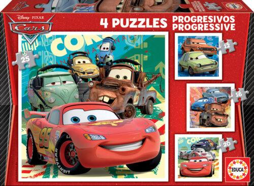 Puzzles Progresivos Cars 2 12+16+20+25