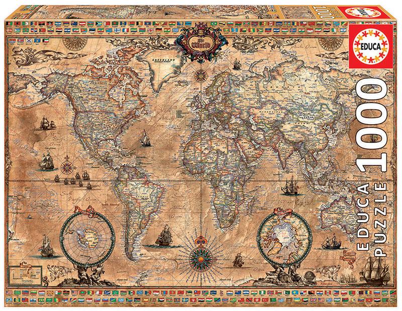 1000 Antique world map