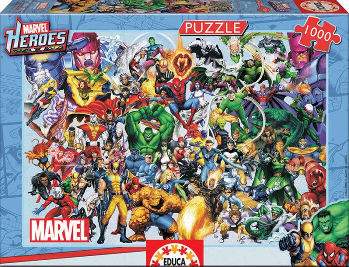 1000 Los héroes de Marvel