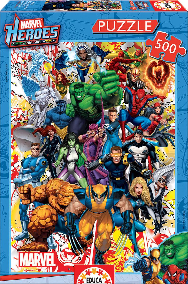 500 Marvel heroes