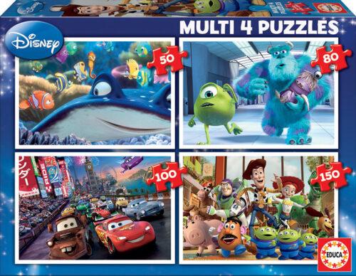 Multi 4 Puzzles Pixar 50+80+100+150