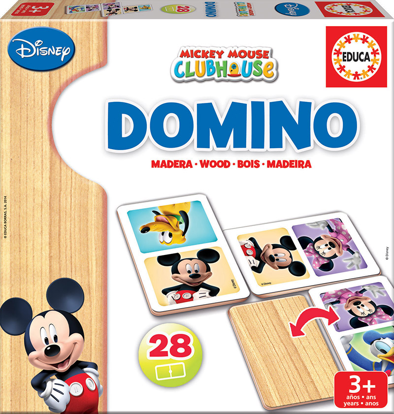 Domino Madera Minnie + Mickey