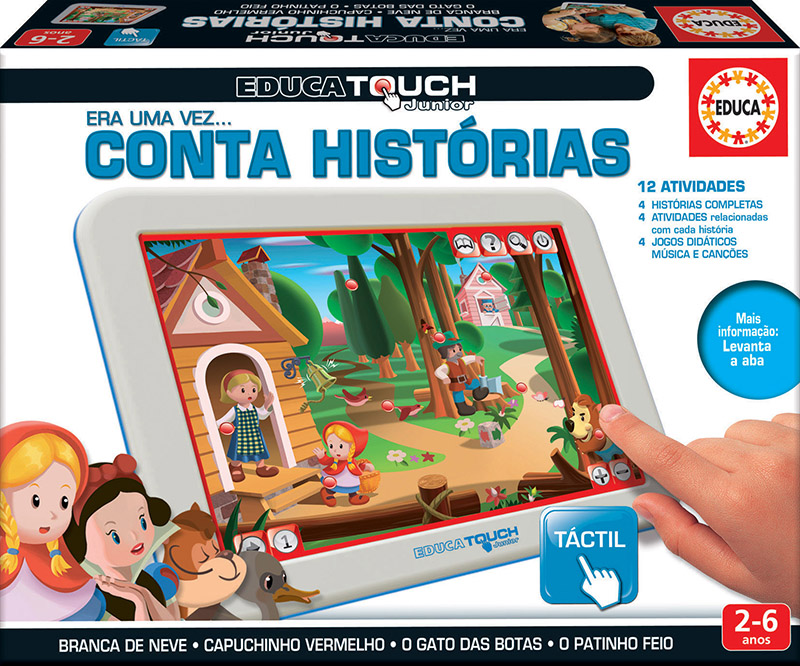 Educa Touch Junior conta histórias