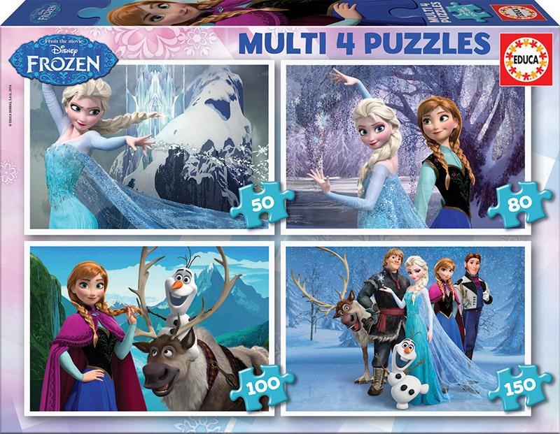 Multi 4 Puzzles Frozen 50+80+100+150