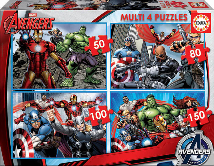 Multi 4 Puzzles Avengers 50+80+100+150