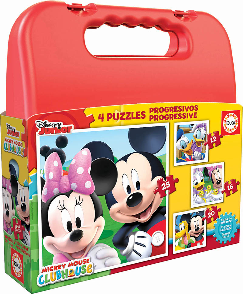 Maleta Progresivos Mickey Mouse 12+16+20+25