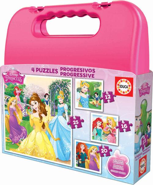 Maleta Progresivos Princesas Disney 12+16+20+25