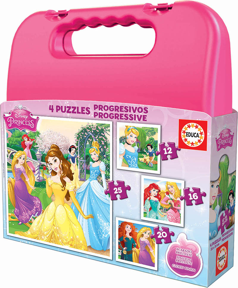 Mala Progressivos Disney Princess 12+16+20+25