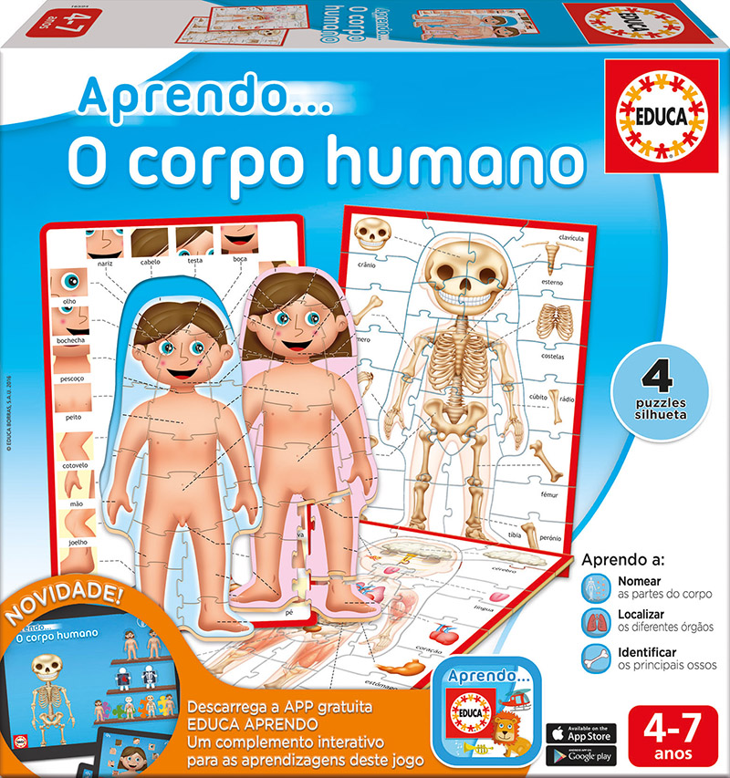 Aprendo… O corpo humano (com App)