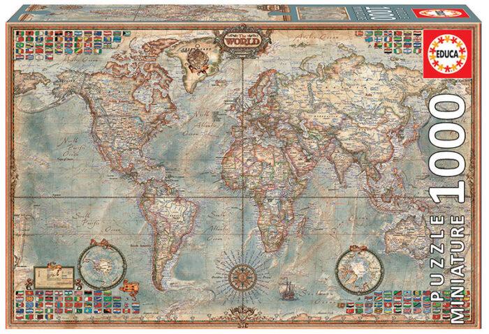 """1000 El Mundo, mapa político """"Miniature"""""""
