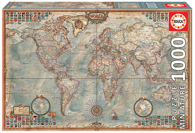"""1000 Political map of the world """"Miniature"""""""
