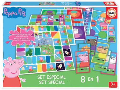 Set 8 en 1 juegos Peppa Pig