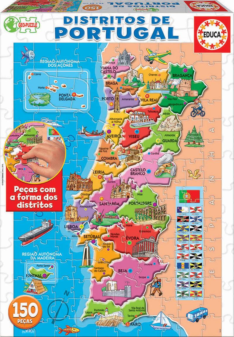 150 Puzzle mapa Portugal