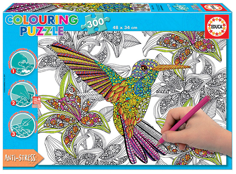 300 Hummingbird ´Colouring Puzzle´