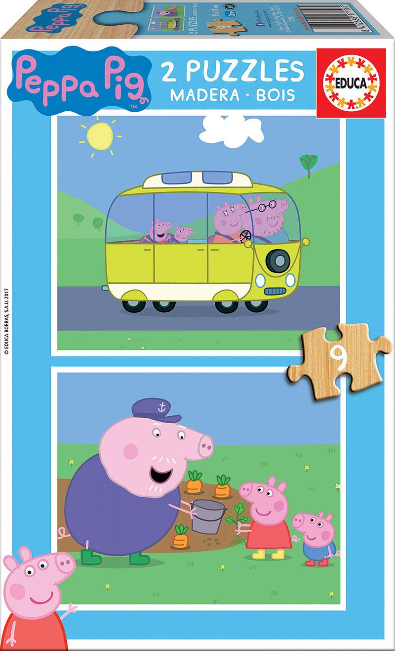 2×9 Bois Peppa Pig