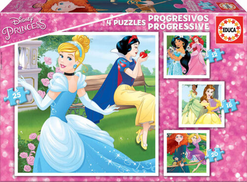 Puzzles Progresivos Princesas Disney 12+16+20+25