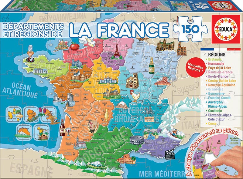 150 Départements et Régions de La France