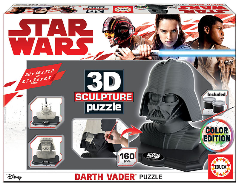 3D Sculpture Puzzle Darth Vader – Dark edition