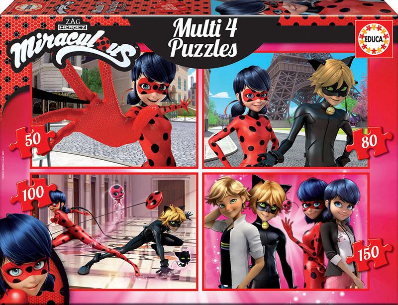 Multi 4 Puzzles Ladybug 50+80+100+150