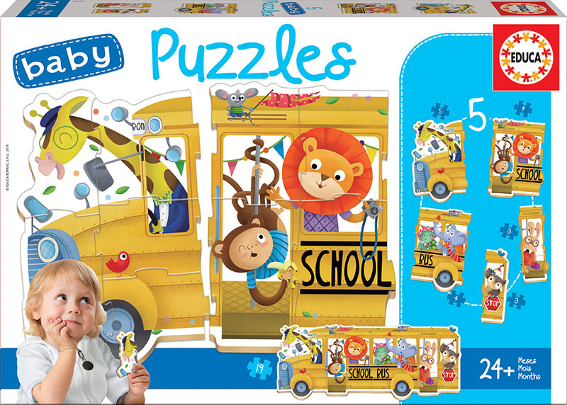 Baby Puzzles Bus de animalitos