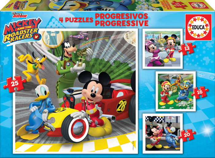Puzzles Progresivos Mickey y los Superpilotos 12+16+20+25