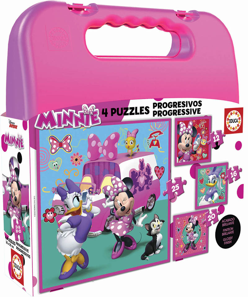 Malette Puzzles Progréssifs Minnie Happy Helpers 12+16+20+25