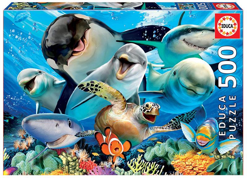 500 Underwater selfies