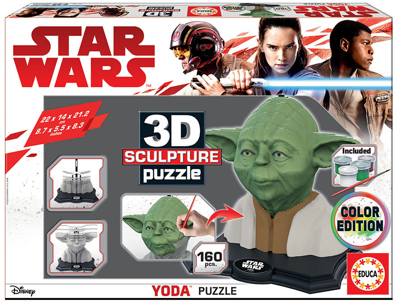 Color Sculpture Puzzle Yoda