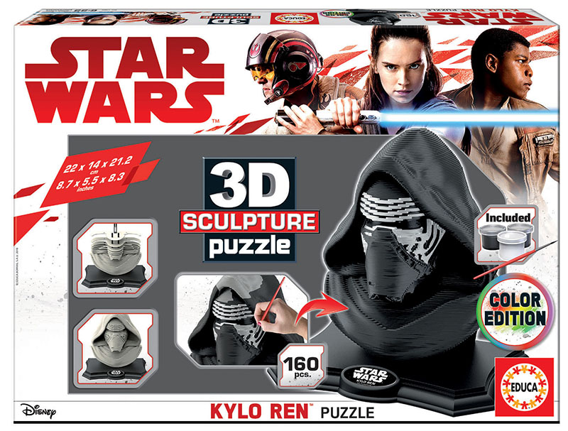 Color Sculpture Puzzle Kylo Ren