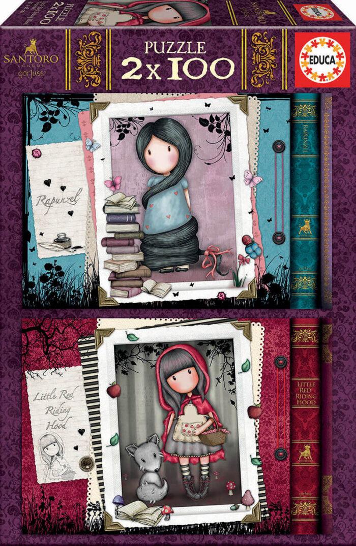 2x100 Little Red Riding Hood + Rapunzel