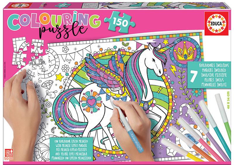 150 Unicornio Colouring Puzzle