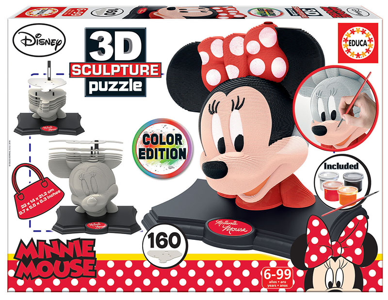 Color 3D Sculpture Puzzle Minnie