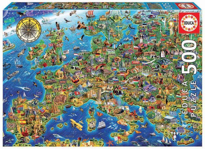 500 Mapa de Europa