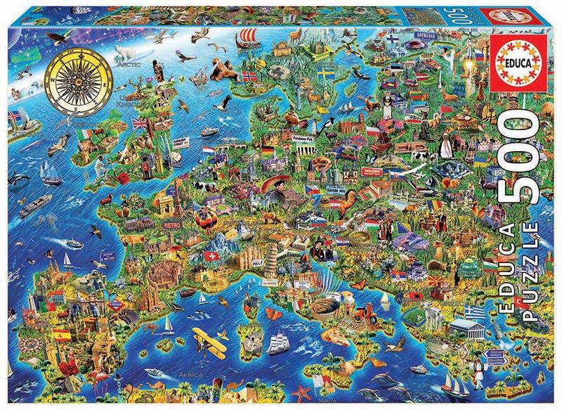 500 Crazy European Map