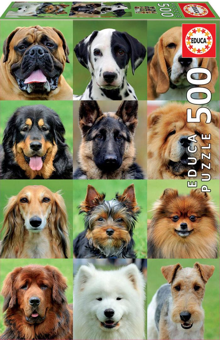 500 Collage de perros