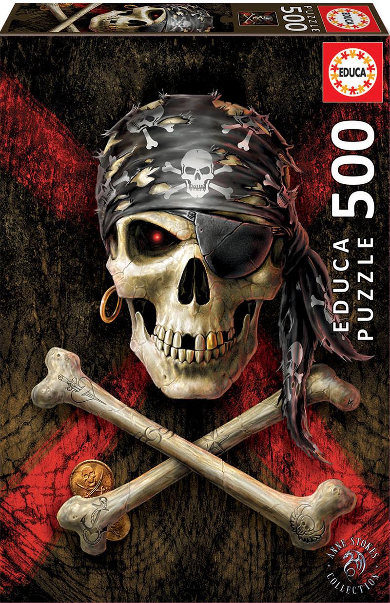 500 Calavera pirata