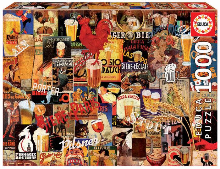 1000 Collage de cerveza vintage