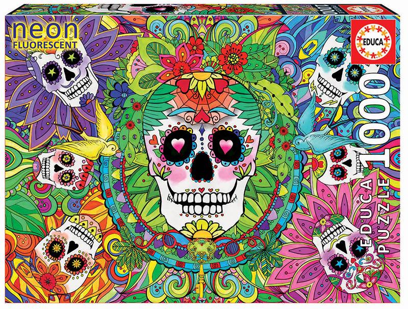 """1000 Sugar Skulls """"Neon"""""""