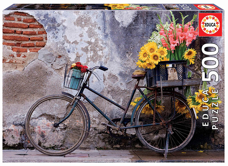 500 Bicycle with flowers