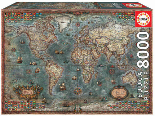 8000 Mapamundi histórico