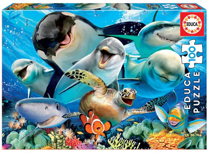 100 Selfie bajo el agua