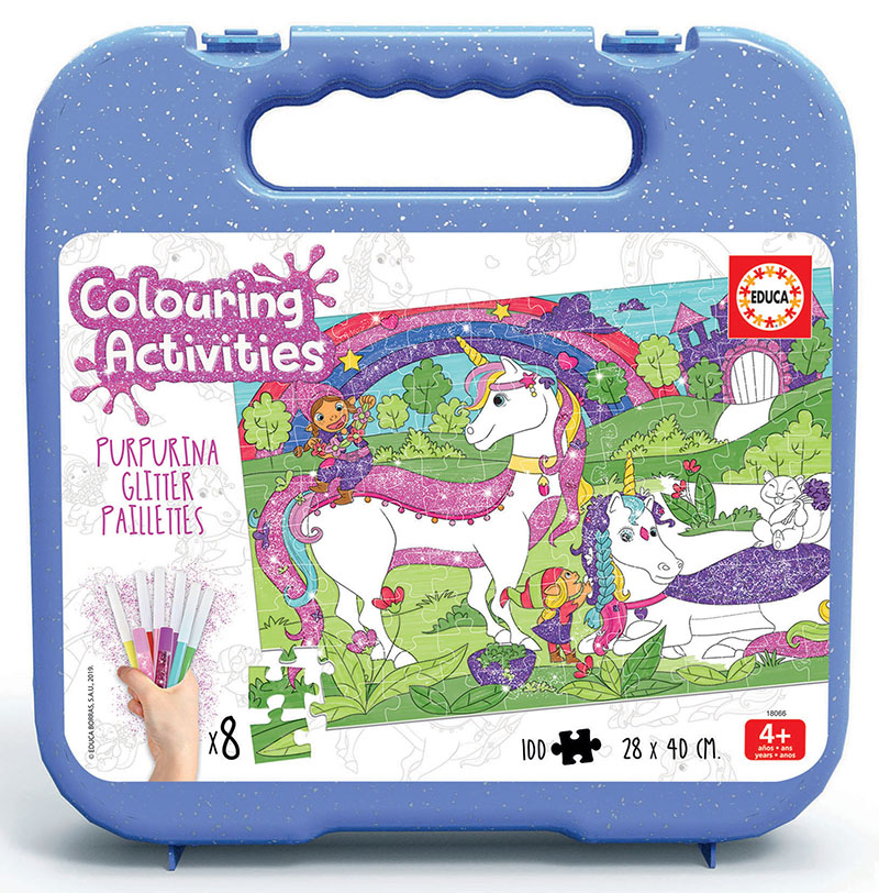 100 Unicorn Colouring Puzzle