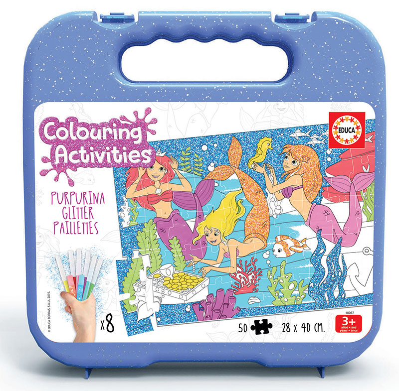 50 Mermaids Colouring Puzzle