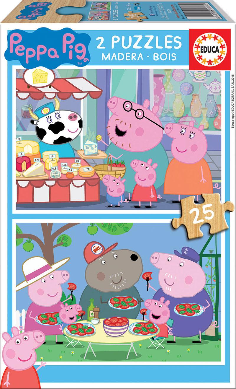 2×25 Bois  Peppa Pig