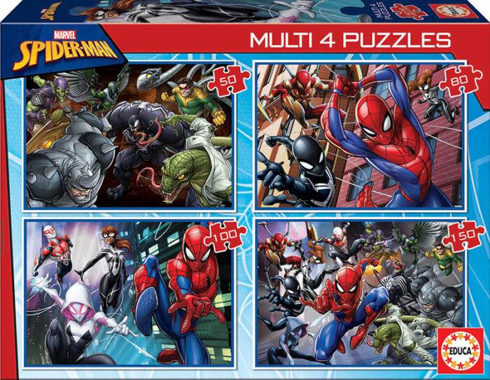 Multi 4 Puzzles Spider-Man 50+80+100+150