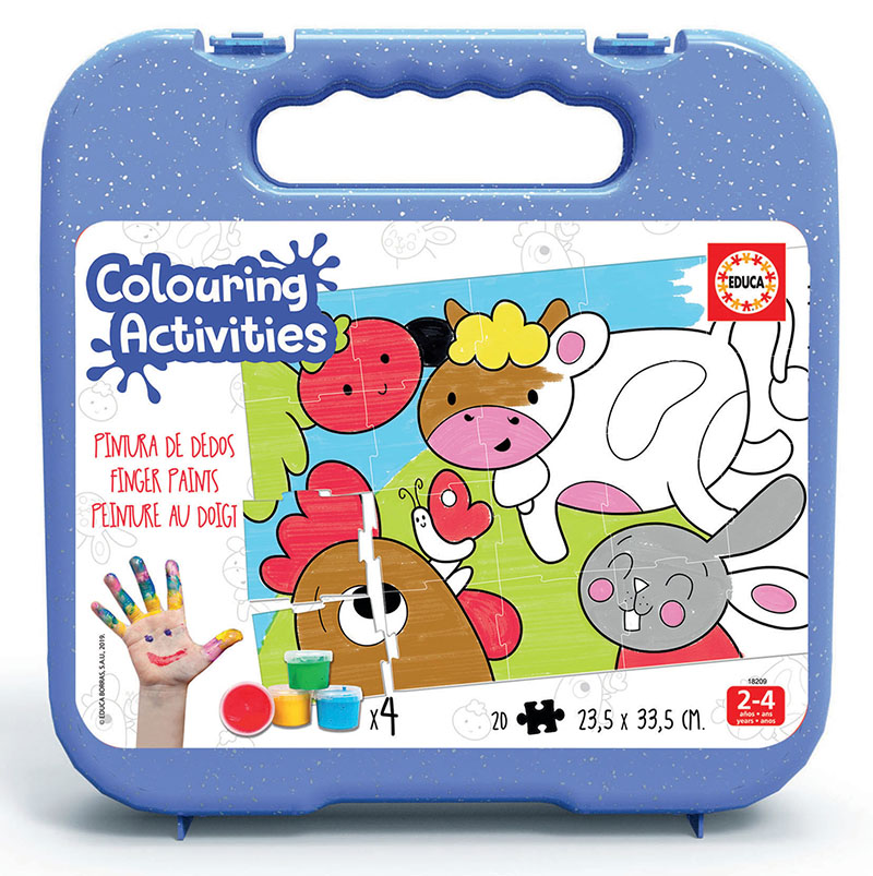20 Farm Animals Colouring Puzzle